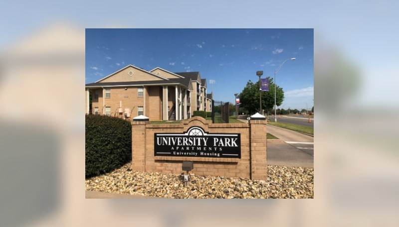 University Park Apartments Sign